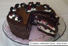Gyümölcsös csokitorta Margitnénje módra