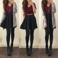 Mode Fashion Style Ideen Rock Outfits Black Skater für 2019 # Rock The Rise of Silver Article Bo Black Skirt Outfits, Black Skater Skirts, Rock Outfits, Teen Fashion Outfits, Cute Casual Outfits, Look Fashion, Dress Outfits, Fall Outfits, Skater Skirt Outfits