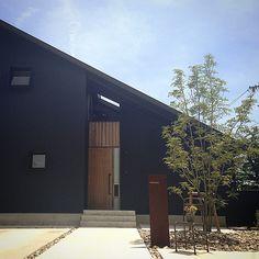 引き渡してから一年間。 一歳になった忍者の家に遊びにきました。 緑にしげったヤマボウシに向かえてもらいました。 上手に住んでいらっしゃって、設計者冥利に尽きます! #住宅#外構#ガルバリウム#忍者の家