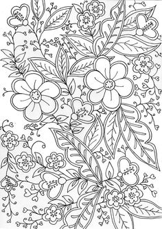 adult coloring pages complete with tips Printable Adult Coloring Pages, Cute Coloring Pages, Colouring Pics, Mandala Coloring Pages, Coloring Pages To Print, Coloring Books, Flower Coloring Sheets, Abstract Coloring Pages, Dibujos Zentangle Art