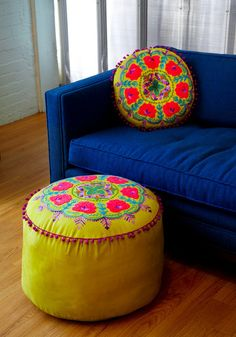 Colorful footstool. $109, I could make it for a LOT less.