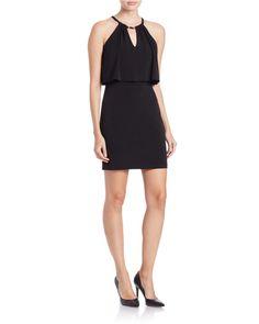 Guess | Black Keyhole Sheath Dress | Lyst