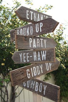 Giddy-Up Cowboy! The Wooden Signs
