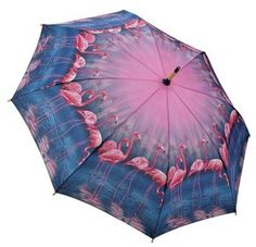 Pink Flamingos Stick Umbrella