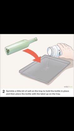 How To Flatten Glass Bottles For Decoration