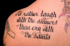 song lyric tattoos - Google Search