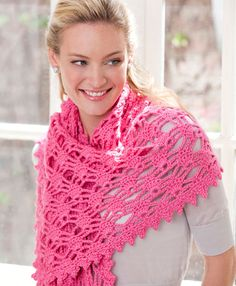 Wrap yourself in a swirl of gorgeous color for a simply wonderful way to complete your look while being comfortable. Since you crochet this wrap in worsted weight yarn, it won't take as long to make as you would think.