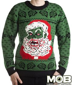 Zombie Santa Claus Christmas Pullover Sweater – Middle of Beyond,  need this asap