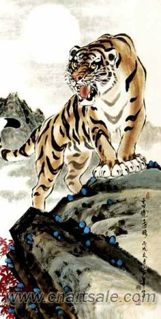 Chinese Tiger Painting AP001
