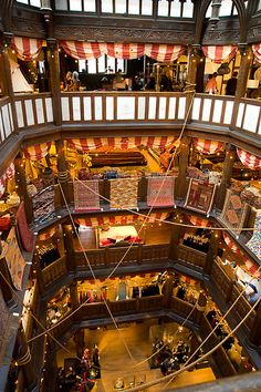 Liberty department store is a beautiful Tudor building in the heart of London's West End. It is filled with the most imaginative of department store crossed with design products that are worth getting lost in for hours on end.