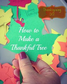 Thanksgiving DIY: How to Make a Thankful Tree - Saving Cents With Sense