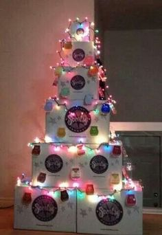 Scentsy Christmas display for holiday open house