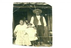 Texas Yaqui Indians ....Taken in lubbock texas early 1900's, from left to right: jesusa urquides (covayori) flores with daughter sarah u. flores both yaqui indians from the big bend presidio texas area. and bentura flores