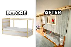 18 People Shared Their Most Creative Ikea Furniture Upgrades That They DIY'd Ikea Eket, Ikea Lack, Ikea Furniture Hacks, Furniture Makeover, Ikea Kallax Unit, Ikea Tarva Dresser, Ikea Shelves, Home Hacks, Bars For Home