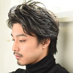 Barber Shop Haircuts, Haircuts For Men, Short Curly Hair, Curly Hair Styles, Androgynous Haircut, Mens Perm, Asian Men Hairstyle, Mens Hair Trends, Boy Hairstyles