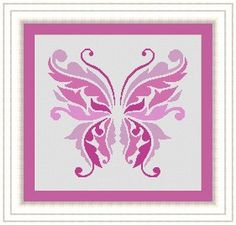 Hey, I found this really awesome Etsy listing at https://www.etsy.com/listing/192524183/butterfly-pink-papillon-counted-cross