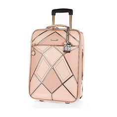 9ccfb18db35 River Island Pink patchwork suitcase (880 MAD) ❤ liked on Polyvore  featuring bags, luggage, bags   purses, make up bags   luggage, pink and  women