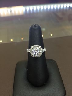 2 ct ex ideal F/SI2 in a platinum Jack Kelege mounting