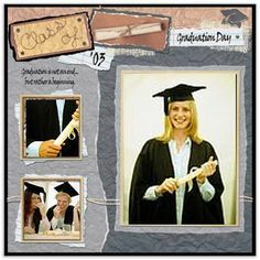 graduation scrapbook layouts - Google Search