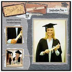 graduation scrapbook layouts - Google Search