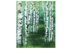 One Kings Lane - The Bohemian Bedroom - Green Birch Trees II