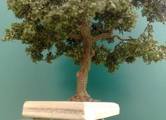 Baumbau---Bau_einer_Eiche_nach _der_Drahtdrillmethode Ho Trains, Model Trains, Mini Terrarium, Miniature Plants, Wire Art, Tree Of Life, Decoration, Projects To Try, Creations