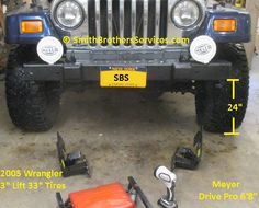 Fabrication is the only way the plow will work on it. Snow Plow, Jeep Wrangler, Over The Years, Monster Trucks, Accessories, Jeep Wranglers, Jewelry Accessories
