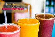 Make healthy smoothies - with hidden veggies. Perfect for kids, or veggie-haters like me, lol :)