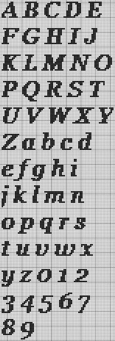Several free cross-stitch alphabet PDFs Cross Stitch Letter Patterns, Cross Stitch Pattern Maker, Cross Stitch Letters, Cross Stitch Rose, Cross Stitch Designs, Stitch Patterns, Alphabet Au Crochet, Cross Stitching, Cross Stitch Embroidery