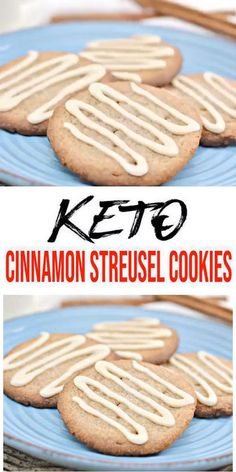 icing frosting Get ready to bake up the BEST keto cookies! Yummy low carb cinnamon cookie recipe with icing. A super easy cinnamon streusel cookie with yummy icing. Keto Cookies, Sugar Cookies Recipe, Cookies Et Biscuits, Chocolate Cookie Recipes, Easy Cookie Recipes, Oreo, Low Carb Desserts, Low Carb Keto, Icing Frosting
