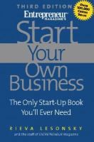 Start Your Own Business: The Only Start-Up Book You Ever Need, by Rieva Lesonsky