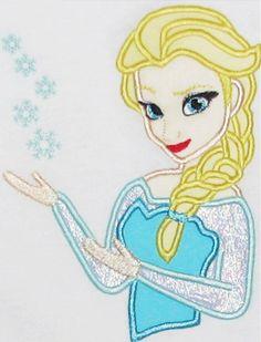 Elsa applique frozen applique design digital by findmeonFBplease, $2.75