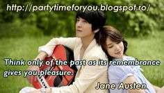Party time: Think only of the past as its remembrance gives yo...