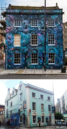 13 Before & After Street Art Transformations That Prove Graffiti Can Be Beautiful Murals Street Art, Street Art Graffiti, Banksy, Fresco, Tile Steps, Empty Canvas, Before After Photo, Amazing Street Art, Beautiful Streets