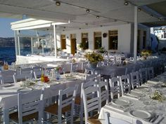 Mykonos Sea II Mykonos, The Bourne Identity, Table Settings, Sea, Table Decorations, Furniture, Home Decor, Decoration Home, Room Decor