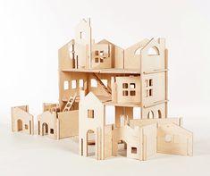 Modular Dollhouse and Modular House Building by manzanitakids