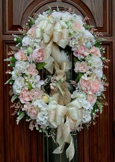 Victorian Easter Wreath Shabby Rabbit So in love with this wreath, everything about this one is so striking. Wreath Crafts, Diy Wreath, Door Wreaths, Wreath Ideas, Easter Wreaths, Holiday Wreaths, Spring Wreaths, Easter Tree, Corona Floral
