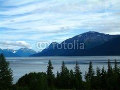 Fototapete - scenery in alaska