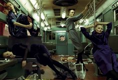 "Who knows who you'll encounter boarding a car in my ""Subway Hitchhikers"" novel. It might be someone like photographer Steven Meisel."