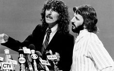 """karinabeat: """" George Harrison and Richard Starkey (filming the ABC tv special…"""