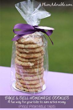 Bake Sale Cookies and FREE Printable Tags!