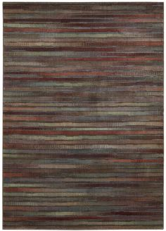 "Nourison Expressions (XP11) Multicolor Rectangle Area Rug, 3-Feet 6-Inches by 5-Feet 6-Inches (3'6"" x 5'6"")"