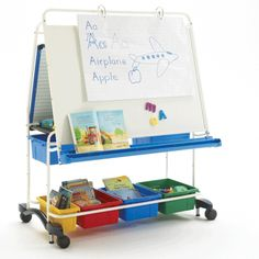 The King Royal® Reading Writing Center has (3) total dry erase surfaces, a variety of handy storage tubs and other accessories that will make your lessons fun and engaging for students, while making it easy for you to stay organized. #RC146