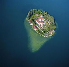 Visovac-tiny island with amazing monasteries, museums and churches