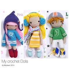 My Crochet Dolls no. 11, 12 & 13 (1 order 3 dolls: mission completed! )