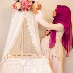 Muslima Pregnant shared by Türk Kızı on We Heart It My Baby Girl, Mom And Baby, Baby Hijab, Shower Outfits, Baby Couture, Beautiful Hijab, Mom Outfits, Baby Girl Fashion, Baby Decor