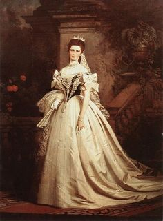 Empress Elisabeth of Austria on the day of her coronation as Queen of Hungary. (Circa 1867)