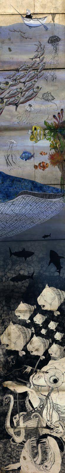 under the sea Tags: art, graffiti, streetart Graffiti, Street Art, Foto Poster, Wow Art, Fish Art, Art Plastique, Urban Art, Under The Sea, Artsy Fartsy