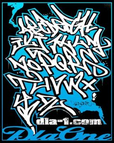 Graffiti Tag Alphabet Letters   Jos Gandos Coloring Pages For Kids