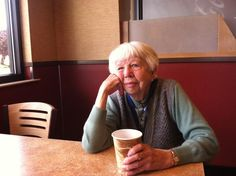 We're loving this charming story today.   Helen Fote enjoys her morning coffee at TacoTime